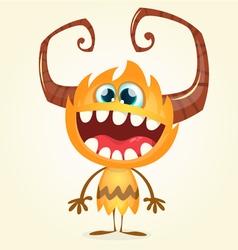 Happy orange monster vector image vector image