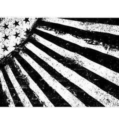 Monochrome Negative Photocopy American Flag vector image