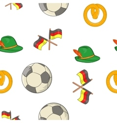 Stay in Germany pattern cartoon style vector image