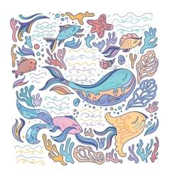 Colorful sea vector image vector image
