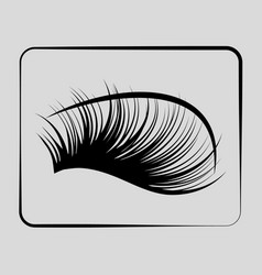 eyelashes icon on a gray background vector image