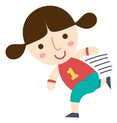 girl run vector image