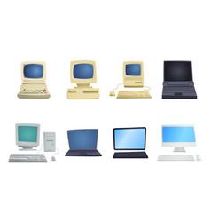 retro computer item classic antique technology vector image