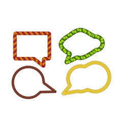 Wicker talk bubbles collection vector image