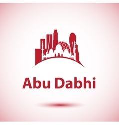 Abu dhabi skyline greatest landmarks as vector