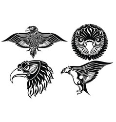 collection of eagle symbols vector image