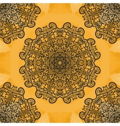 Elegant oriental syamless print Ornamental round vector image