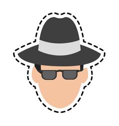 hacker man icon vector image