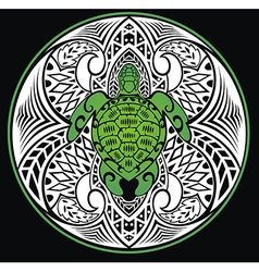 Turtle in a tribal style vector image vector image
