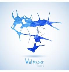 Watercolor design element blue Water vector image