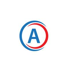 a company logo template design vector image