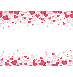 a seamless valentines day background vector image