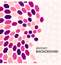 abstract background with pink hexagons vector image