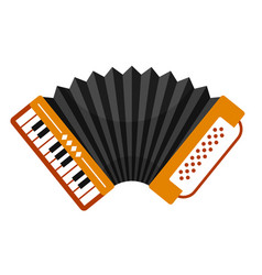 accordion with piano keyboard folk free reed vector image