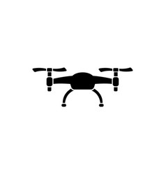 air drone flat icon vector image