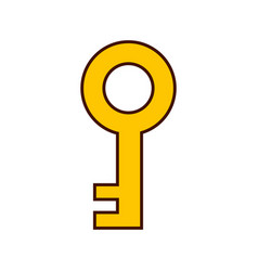 antique key isolated icon vector image