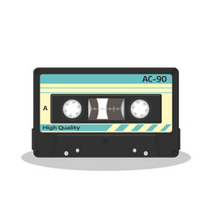 audio cassette in retro style isolated on a white vector image