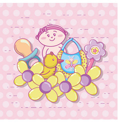 baby shower cartoons vector image