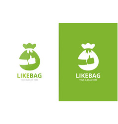 Bag and like logo combination sack and vector