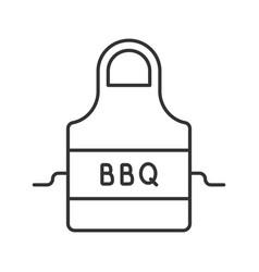 Barbecue apron linear icon vector