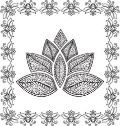 Beautiful background with lotus pattern vector