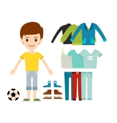 Beautiful cartoon fashion boy cloth vector image