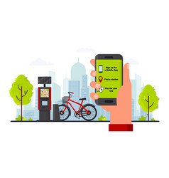 Bike rental service concept flat vector