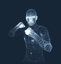 Boxer fighting man 3d model man human body vector