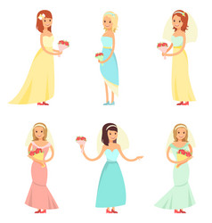 brides dancing collection vector image