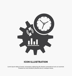Business engineering management process icon vector