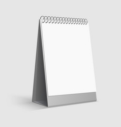 Calendar mockup blank white desktop office vector