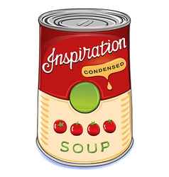 Can condensed tomato soup inspiration vector