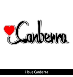 Canberra greetings hand lettering Calligraphy vector image
