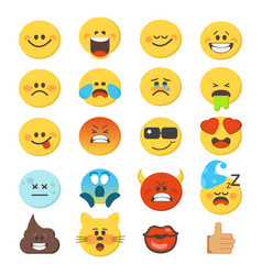 Cartoon emoji premium collection vector