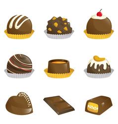 Chocolates icons vector