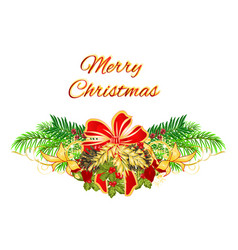Christmas and new year decorative christmas tree vector