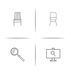 Creative process and design simple linear icons vector