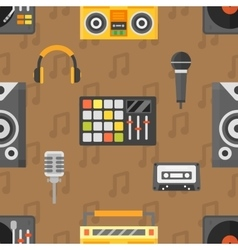 DJ seamless pattern vector