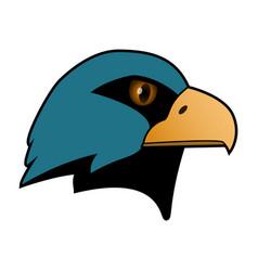 Eagle the head of a bird of prey vector
