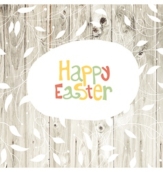 easter card wooden back vector image