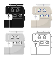 Electric sewing machine overlock sewing and vector