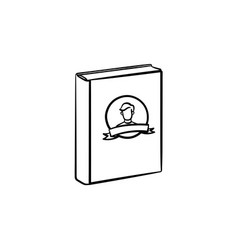 Family book hand drawn sketch icon vector