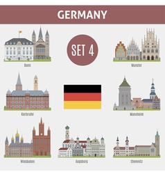 famous places cities in german vector image