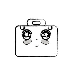 Figure kawaii cute tender briefcase and medical vector