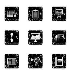 Firm icons set grunge style vector