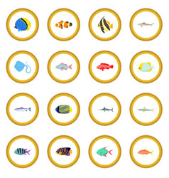 Fish icon circle vector