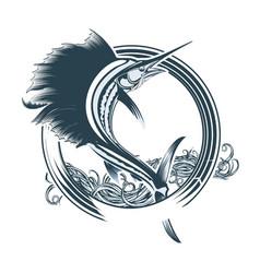 fishing club vector image