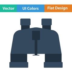 Flat design icon of binoculars vector