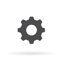 Flat icon gear for web business finance and vector
