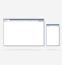 Flat internet browser windows with copy space for vector image